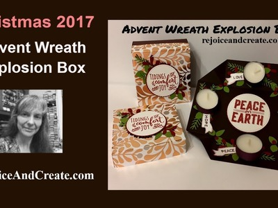 Christmas 2017 Advent Wreath Explosion Box