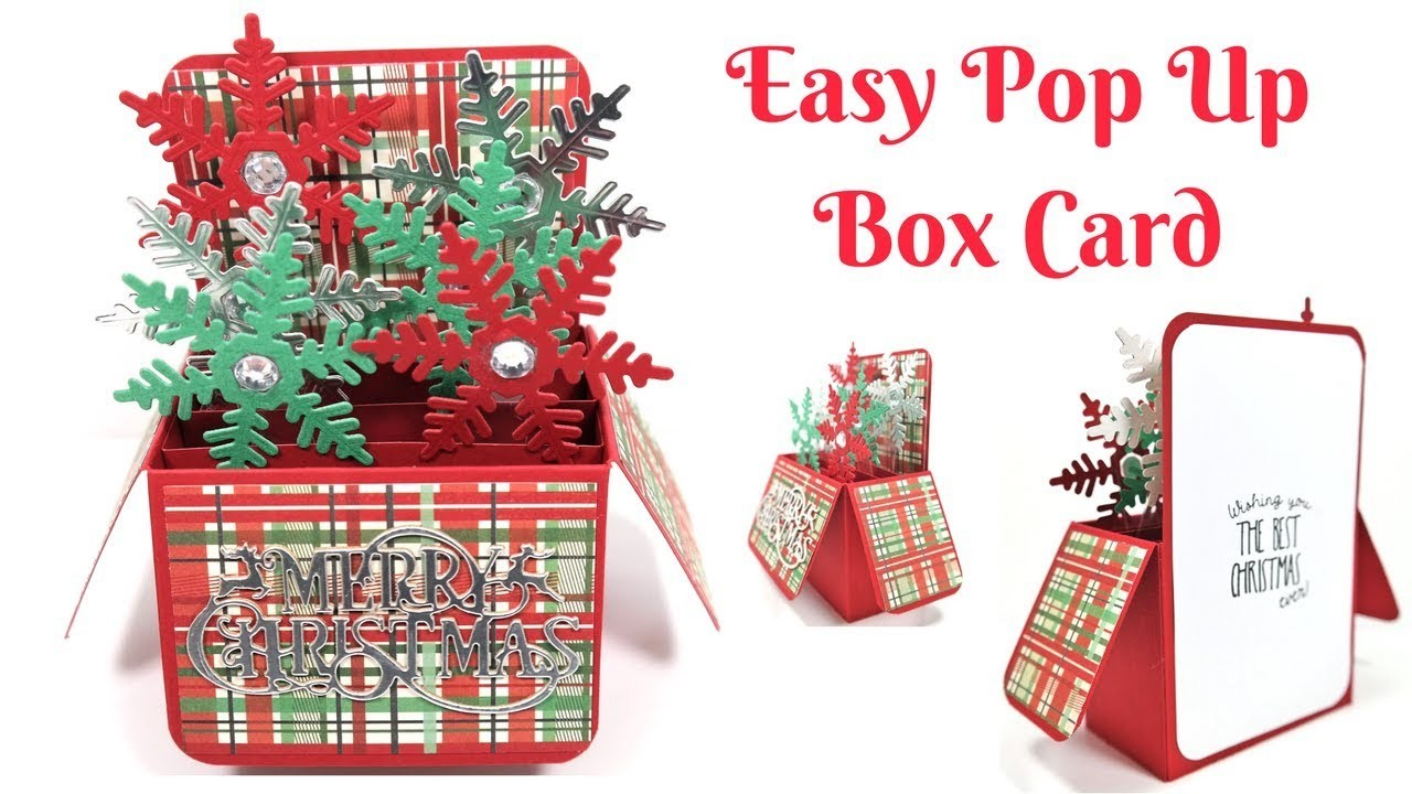 Christmas Cards | Easy Christmas Pop Up Box Card | Video Tutorial