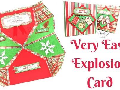 Christmas Cards | Very Easy Christmas Explosion Card | Video Tutorial