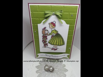 Christmas in the making Card using stampin up products