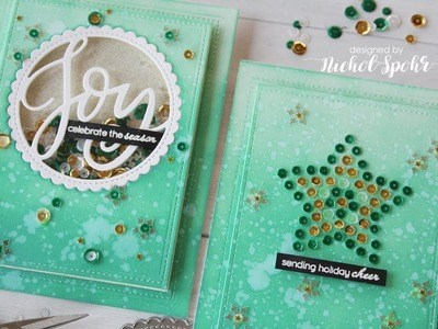 Christmas Sequins Cards