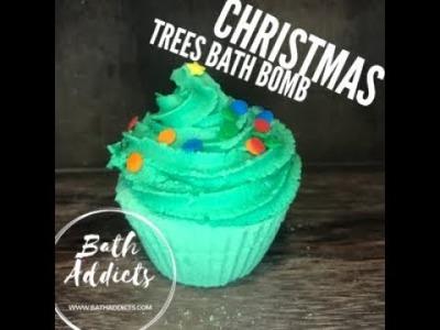 Christmas Tree Bath Bomb and Sugar Free Bubble Frosting Tutorial