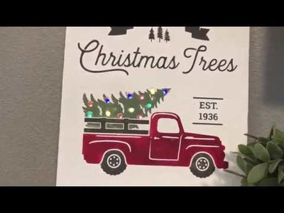 Christmas Tree Truck Sign Silhouette Cameo and Cricut Tutorial