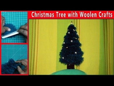 Christmas Tree with Woolen Crafts Table top decoration :