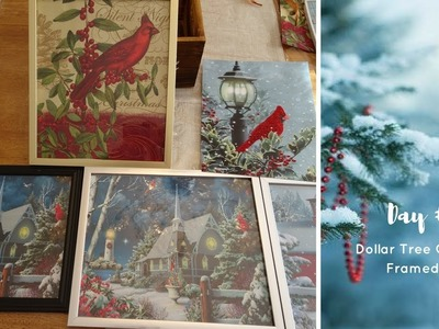 Christmas Wall Art Using Dollar Tree Bags | Day 6 of 12 Days Of Christmas