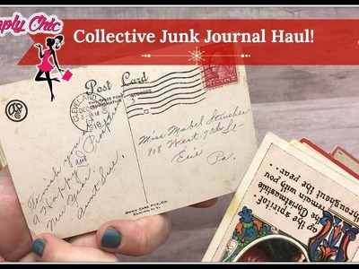 Collective Junk Journal Haul! Tuesday Morning, Blitsy and eBay! Christmas!