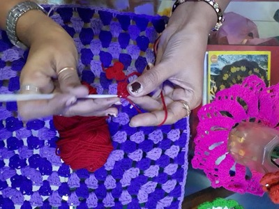 Crochet flower in Gujarati