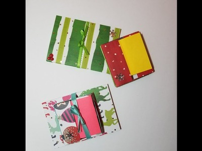 Day 8 ~ 50 Christmas Crafts in 50 Days ~ Pop Up Sticky Note Holder and Note Pad paper craft gift set