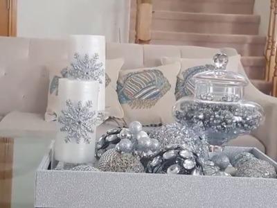 DIY DOLLAR TREE GLAM CHRISTMAS ORNAMENTS