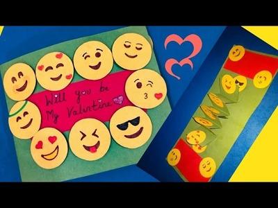 DIY Emoji card | valentine emoji card tutorial