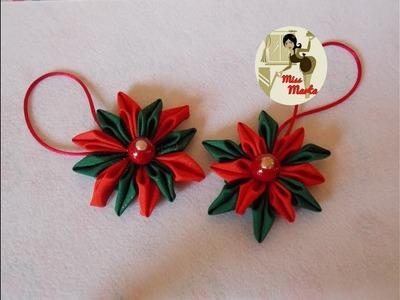 DIY Etoiles de Noël - satin décoration facile - Ornement de noël
