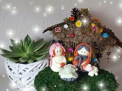 DIY Family Christmas Nativity Set (Cold Porcelain)