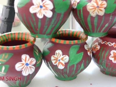 DIY.How to make Beautiful matka for diwali
