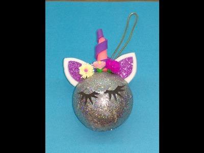 Diy How to make cute unicorn Christmas Decoration
