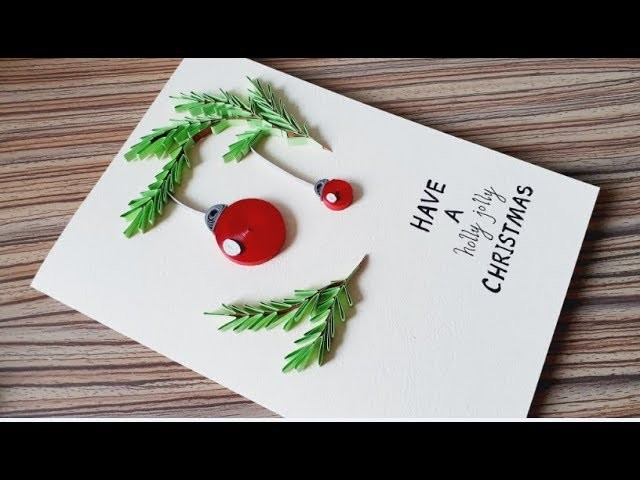 Diy Paper Quilling Christmas Card Easy Simple Christmas Design 05