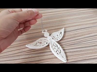 DIY Paper Quilling -Christmas Angel - Easy & Simple  Christmas design 14