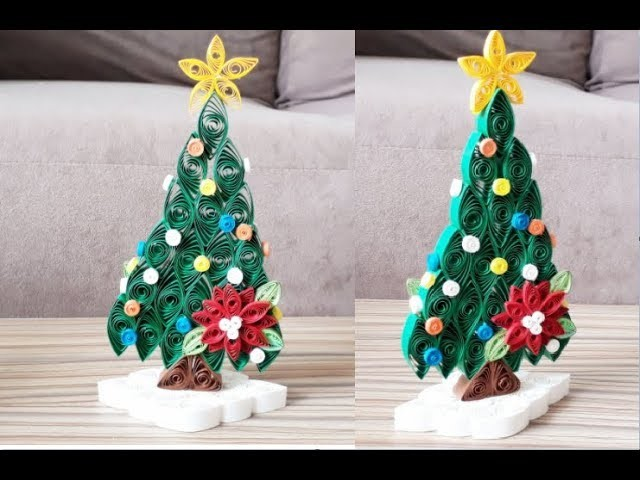 Diy Paper Quilling Christmas Tree Easy Simple Christmas Design15