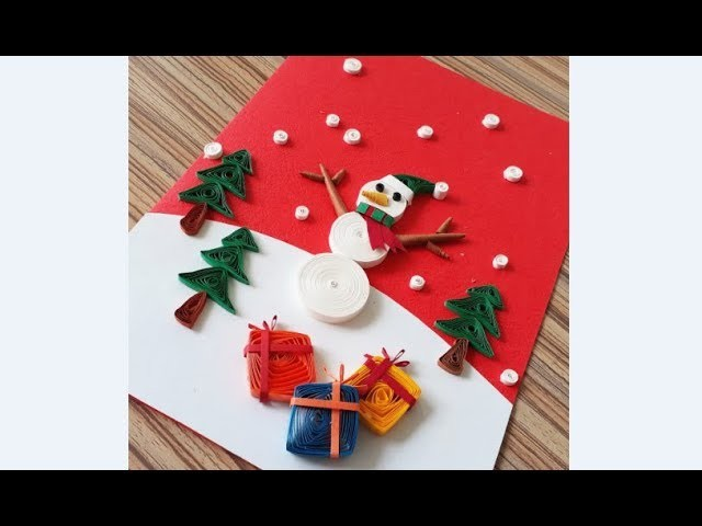 Diy Paper Quilling Christmas Card Easy Simple Christmas Design 20