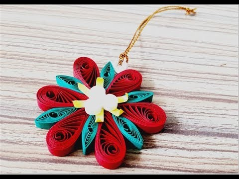 DIY Paper Quilling -Easy & Simple  Christmas design 01