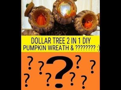 ????????????DOLLAR TREE 2 IN 1 DIY PUMPKIN WREATH & ???????? :)????????????