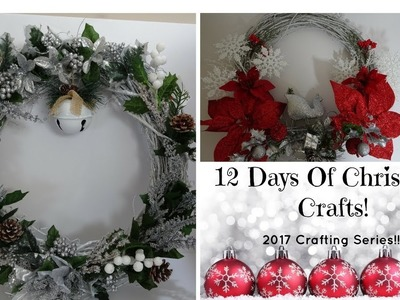 Dollar Tree Christmas Wreath 12 Days Of Christmas Day #1