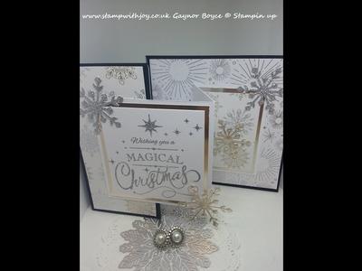 Double Z Joy fold Christmas card using year to cheer SU