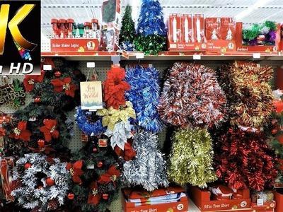 FAMILY DOLLAR CHRISTMAS DECOR - Christmas Shopping Christmas Decorations Ornaments (4K)