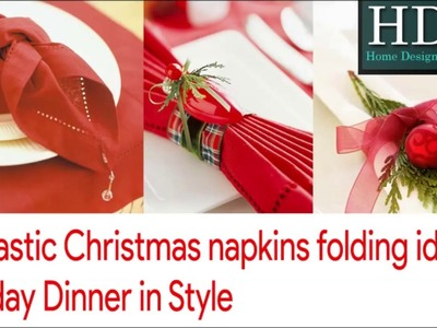 Fantastic Christmas napkins folding ideas a holiday dinner in style
