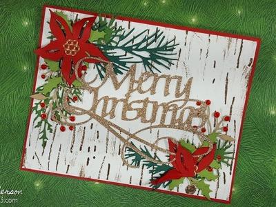 Festive Foliage Christmas Card with Tim Holtz Sizzix Dies