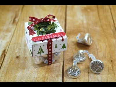 Free Merry Patterns Stamp Set and Be Merry Christmas Treat Boxes Tutorial