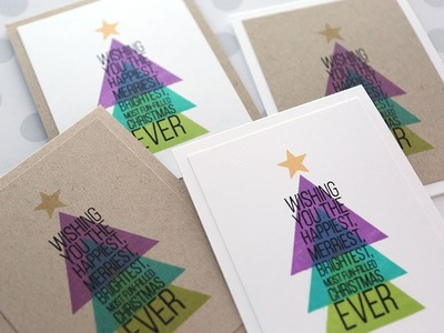 Holiday Card Series 2017 - Day 2 - Modern Christmas Tree with Triangle Stamp