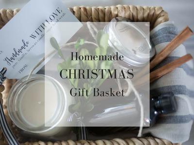 Homemade Christmas Gift Ideas- Gift Basket Tutorial