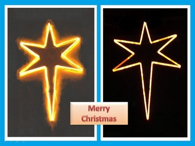 How to make a 6 feet tall Christmas Star. (PART - 1) DIY Project. (CV Video No - 2)