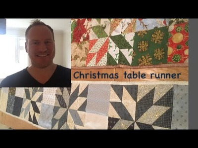 How to make a Christmas patchwork table runner