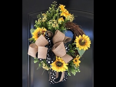 How to Make a Sunflower Wreath - DIY Wreath