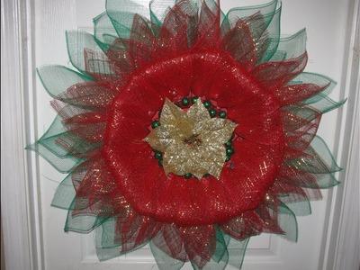 How to make Carmen's Christmas Poinsettia Wreath