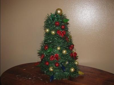 How to make Carmen's DIY TableTop Christmas Tree