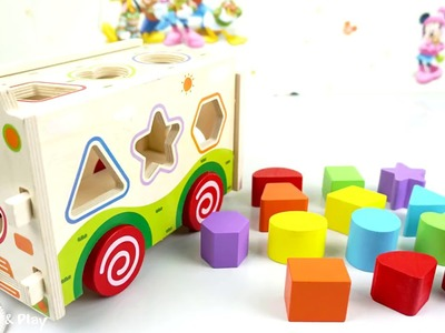 Learning Colors Shapes with Wooden Box Toys for Children   DIY