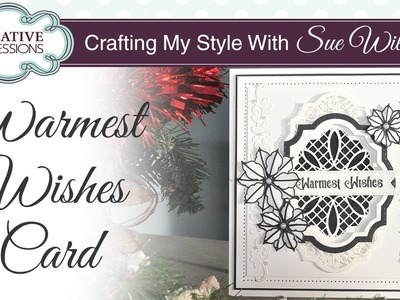 Monochrome Christmas Card Tutorial   Crafting My Style with Sue Wilson