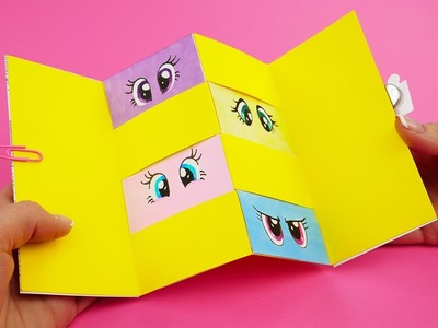 My Little Pony Gift Card with a Secret and Magnet Lock | My Little Pony DIY