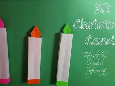 Origami: 3D Christmas Candle (Easy and Fast) | Tutorial for beginners!