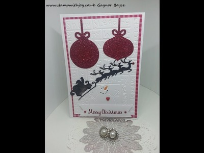 Quick and simple Christmas card  x x