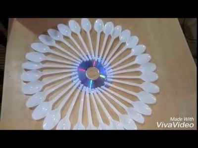 Room  decoration with spoon === Christmas decoration Idea====waste to wow