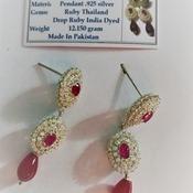 Ruby/July Birthstone Earrings
