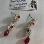 Ruby/July Birthstone Earrings