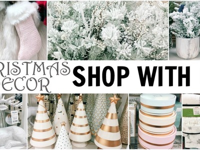 SHOP WITH ME for CHRISTMAS DECOR at 2 HomeGoods, 2 Marshalls, 1 TJ Maxx & 3 Ross Stores ♡ 2017