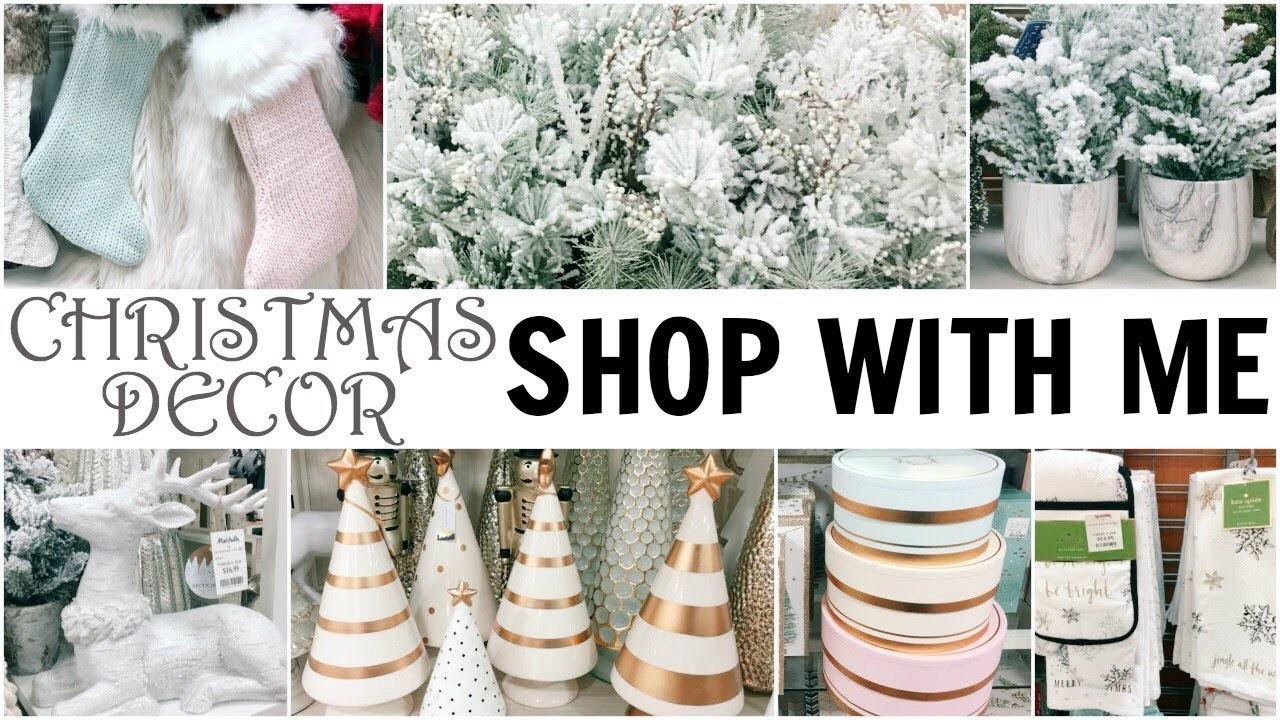Shop With Me For Christmas Decor At 2 Homegoods 2 Marshalls 1 Tj