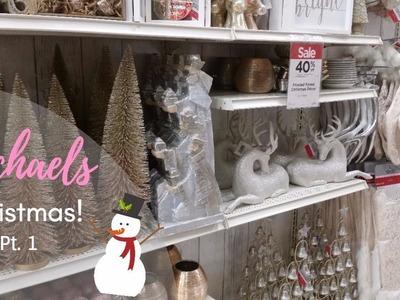 Shop with me! | MICHAELS CHRISTMAS 2017! Glam Christmas Decor Pt.1