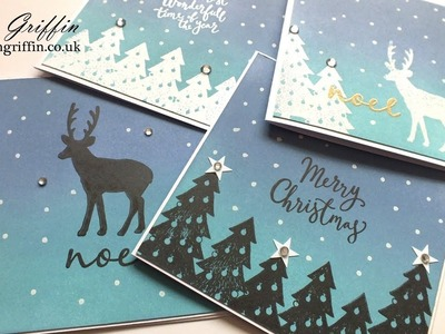 Silhouette Christmas Cards With Tim Holtz Distress Oxide Inks