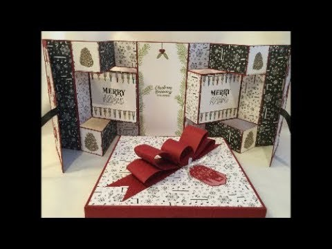 Stunning Mega Concertina Christmas Card with Christmas Happiness Fun Fold Multi Step and Fold!